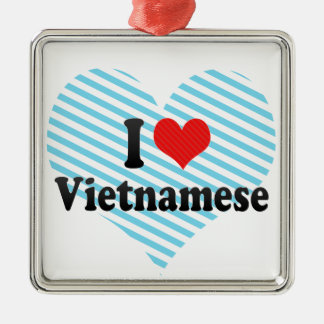 I Love Vietnamese Christmas Ornament