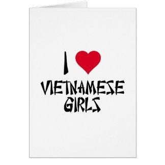 I Love Vietnamese Girls Card