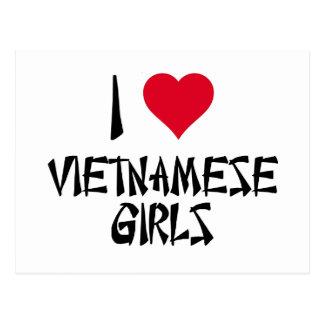 I Love Vietnamese Girls Postcard
