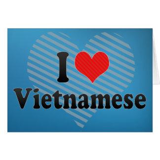 I Love Vietnamese Greeting Cards