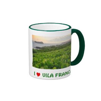 I Love Vila Franca Ringer Coffee Mug