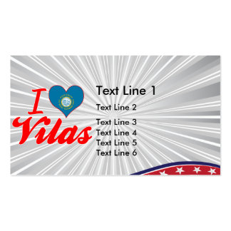 I Love Vilas, South Dakota Double-Sided Standard Business Cards (Pack Of 100)