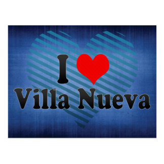 I Love Villa Nueva, Guatemala Postcard