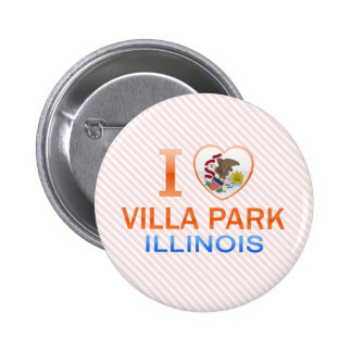 I Love Villa Park, IL Pinback Buttons