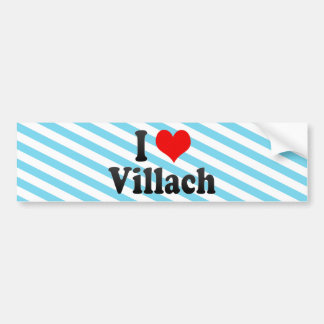 I Love Villach Austria Bumper Stickers