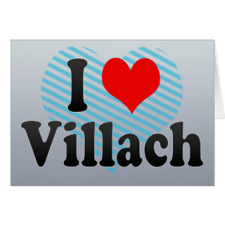 I Love Villach Austria Greeting Cards