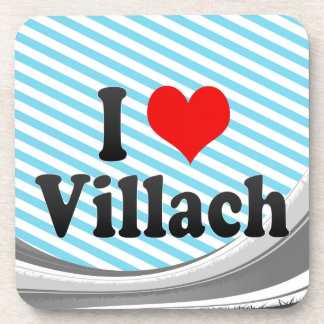 I Love Villach Austria Beverage Coasters