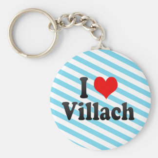 I Love Villach, Austria Keychain