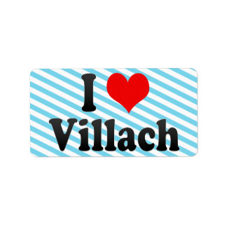 I Love Villach Austria Custom Address Label