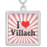 I Love Villach, Austria Personalized Necklace