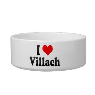 I Love Villach Austria Cat Water Bowl