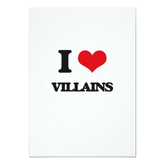 "I love Villains 5"" X 7"" Invitation Card"