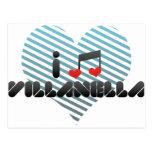 I Love Villanella Post Card