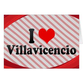 I Love Villavicencio, Colombia Greeting Cards