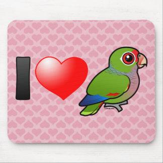 I Love Vinaceous Parrots Mousepad