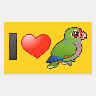 I Love Vinaceous Parrots Stickers