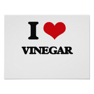 I love Vinegar Poster
