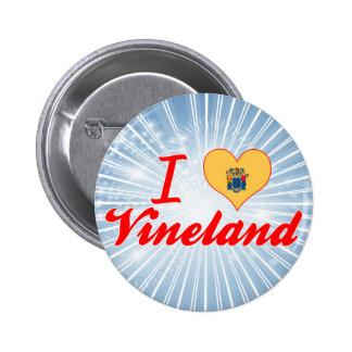 I Love Vineland New Jersey Pinback Buttons