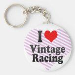 I love Vintage Racing Key Chains