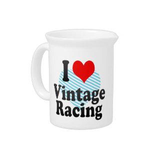 I love Vintage Racing Beverage Pitchers