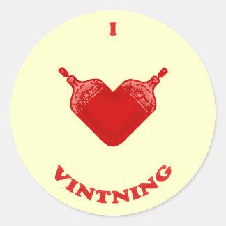 I Love Vintning Stickers