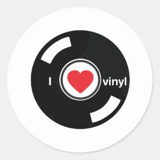 I Love Vinyl Classic Round Sticker