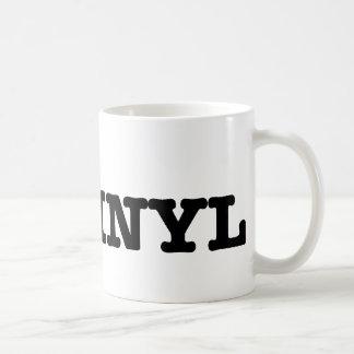i love vinyl classic white coffee mug