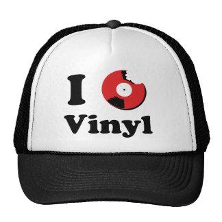 I Love Vinyl Mesh Hats