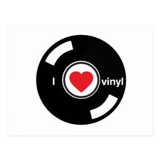 I Love Vinyl Postcard