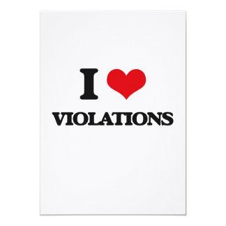I love Violations 5x7 Paper Invitation Card