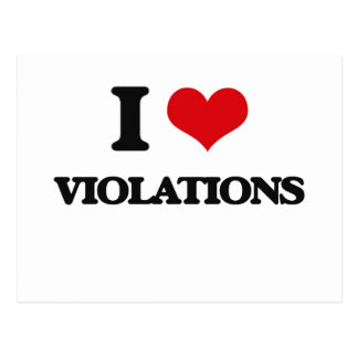 I love Violations Postcard