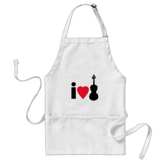 I Love Violin Adult Apron
