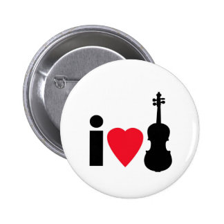 I Love Violin Button