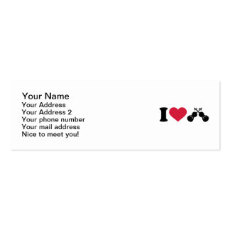 I love Violin Fiddle Mini Business Card
