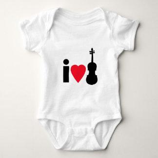 I Love Violins Baby Bodysuit