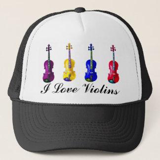 I LOVE VIOLINS-HAT TRUCKER HAT