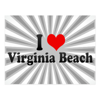 I Love Virginia Beach, United States Postcard