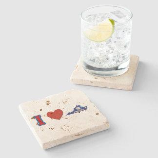 I Love Virginia Stone Beverage Coaster