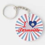 I Love Virginia Single-Sided Round Acrylic Keychain