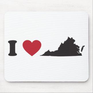 I Love Virginia Mouse Pad
