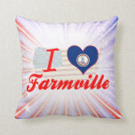 I Love Virginia Throw Pillow