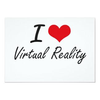 I love Virtual Reality 5x7 Paper Invitation Card
