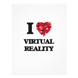 "I love Virtual Reality 8.5"" X 11"" Flyer"