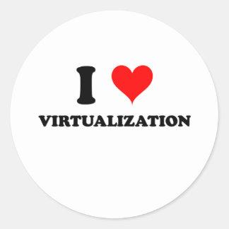 I Love Virtualization Classic Round Sticker