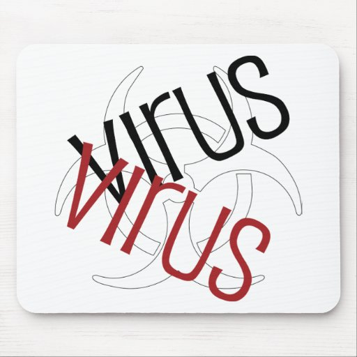 I Love Virus Mouse Pad