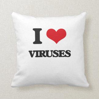 I love Viruses Throw Pillow