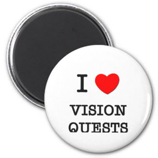 I Love Vision Quests 2 Inch Round Magnet