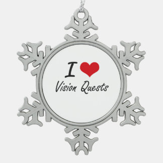 I love Vision Quests Snowflake Pewter Christmas Ornament
