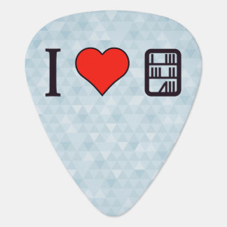 I Love Visiting A Library Guitar Pick