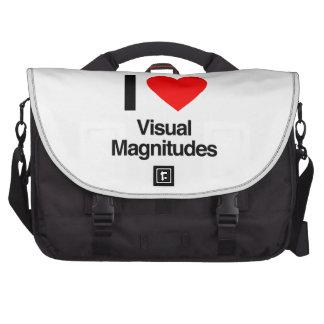 i love visual magnitudes commuter bag